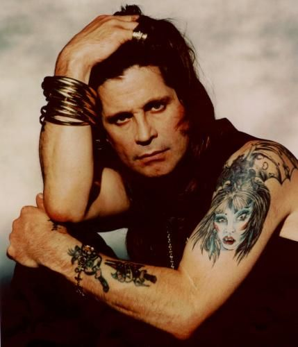 Ozzy Osbourne, the famous goth rocker who sang in Black Sabbath and also has a band of his own, is no stranger to tattoos. Description from offbeatink.com. I searched for this on bing.com/images