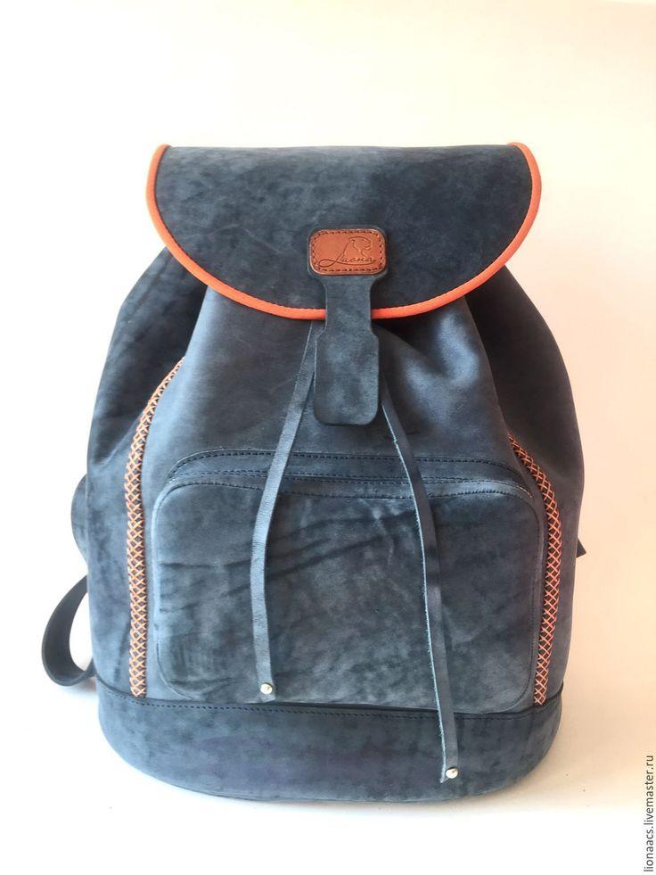 """Купить Женский рюкзак """"Оранжевое небо"""". Ручная работа. Натуральная кожа. - рюкзак, рюкзак женский"""