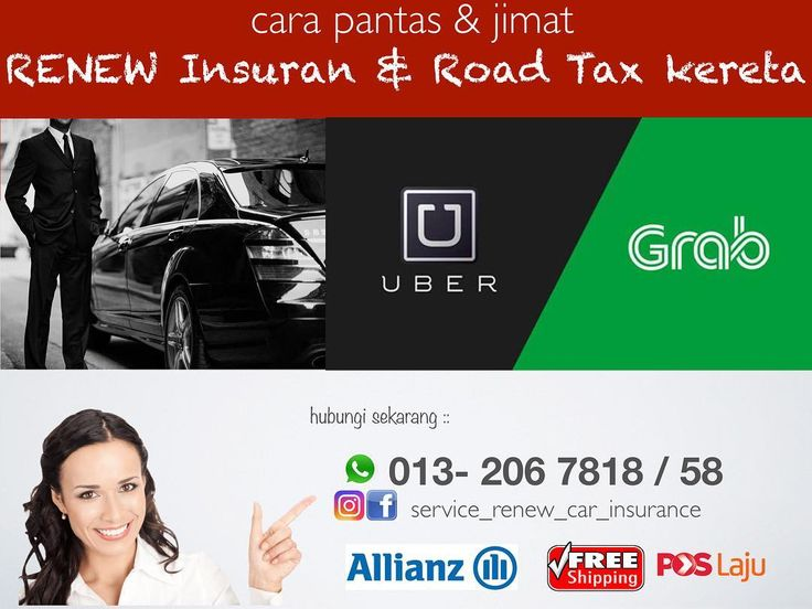 Assalamualaikum Grab & Uber transporter   if you want to renew insurance and also your car's roadtax please contact me 0132067818 for quotation and submission  -------------- - no need to queue - save time & money  - just whatsapp on me a copy of the front grants or old insurance policy to www.wasap.my/60132067818/nakRenew (for the first time only the following year only give your plate number only ( _ ) - Free Quotation - Free Delivery by pos laju to your place (All Malaysia) - Pick up…