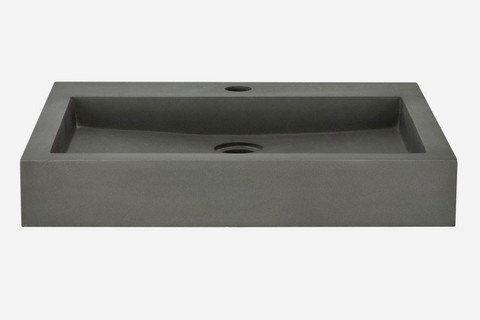 Rectangular Polished Concrete Vessel Sink  SQUARE1 by Rocksinks