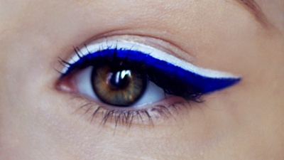 """marine"" eyeliner- almost Halloween"