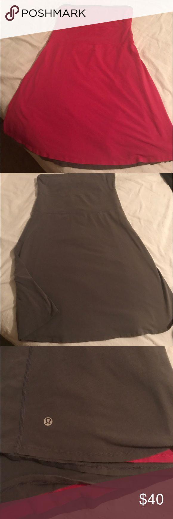 Lululemon dress Lululemon pink and gray strapless reversible dress, size medium no tag. Perfect for summer lululemon athletica Dresses Strapless
