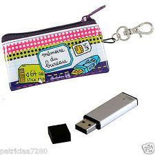 POCHETTE ETUI TROUSSE A CLE USB MEMOIRE DE BUREAU CARTE SD DLP DERRIERE LA PORTE