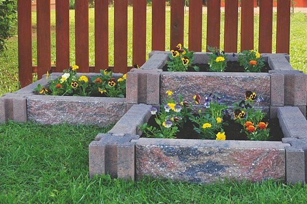 Easy Assemble Stone Raised Bed | Creative Raised Bed Garden Ideas: Yard Decor For Every Season