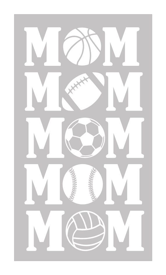 Personalized Vinyl Car Window Decal  Sports Mom by LeslieScraps