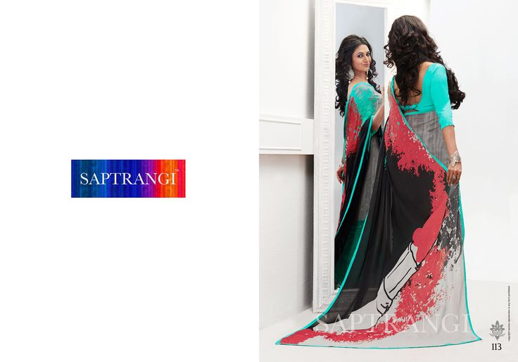 www.saptrangi.com Info@saptrangi.com Digital print saree