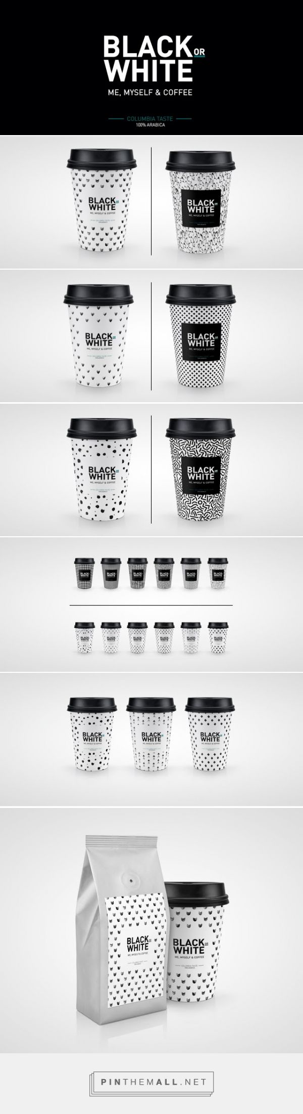 Black or White Coffee (Concept)  on Packaging of the World - Creative Package Design Gallery  - http://www.packagingoftheworld.com/2015/07/black-or-white-coffee-concept.html