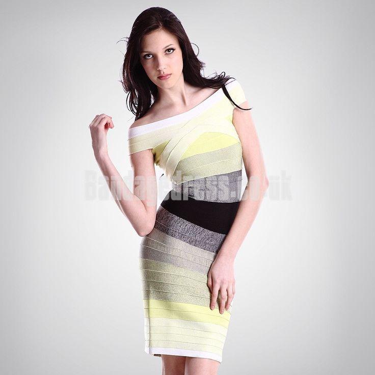 Elegant Off the Shoulder Ombre Bandage Dress Bandage Dress Uk