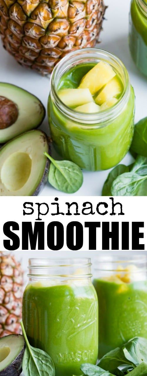 Boost your GREENS intake the easy way! Fresh spinach, avocado, and plenty of pineapple make for a tasty Pineapple Paradise Spinach Smoothie.