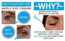 """Using an eye cream but still having """"puffy"""" eyes? Make sure you apply your eye cream properly!!Use your ring finger to lightly pat cream on the orbital bone.   If you haven't tried Rodan+Fields Multi Function Eye Cream you are missing out! It is a triple threat to fine lines, dark circles and puffiness! Best eye cream I have ever tried! #TheAListLife"""