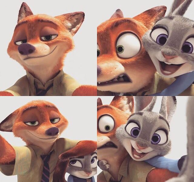 Zootopia 2016 Love these two and this movie. Silly selfies.