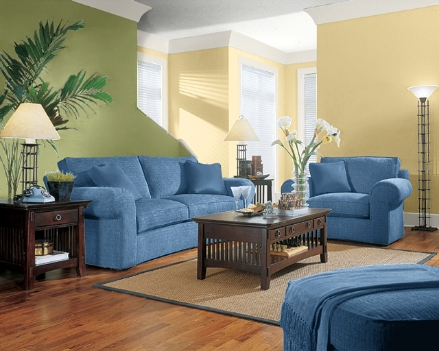 This is from the sherwin williams color picker using peace - Green paint colours for living room ...