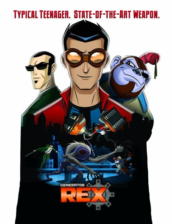 Generator Rex. I know its a cartoon, but its still pretty cool to watch.
