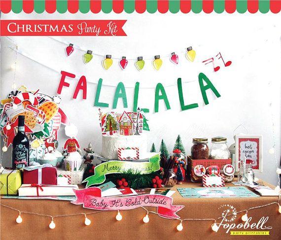 Christmas Party Kit. DIGITAL PDF. Christmas Party Set. Holiday