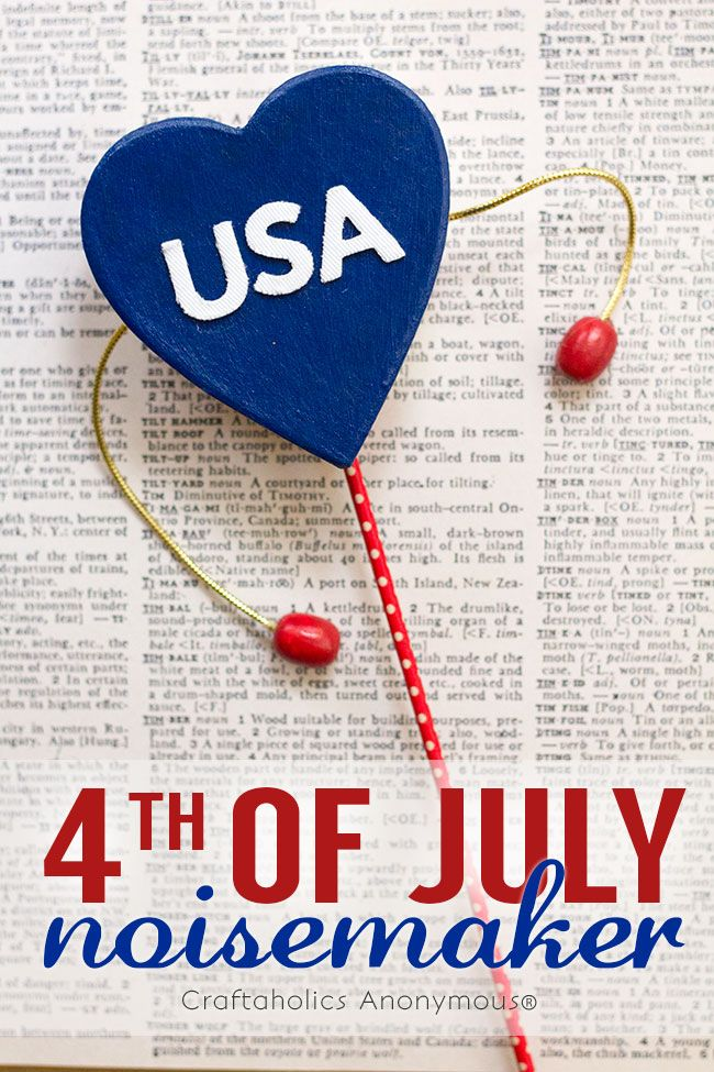 Craftaholics Anonymous® | 4th of July Noisemakers
