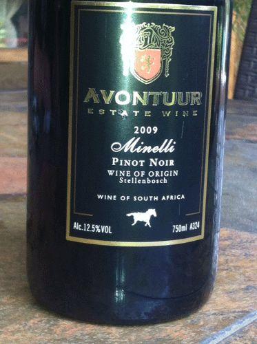 Pinot Noir Times - Tastings - Individual tastings this month -  #Avontuur #PinotNoir #SAWines #Wine #South Africa