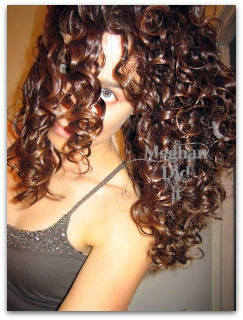 Curly Hair Girl | Meghan Did It This girls annoying but I may have to try some of these products!