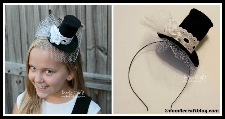 DIY Mini Top Hat Headband Tutorial