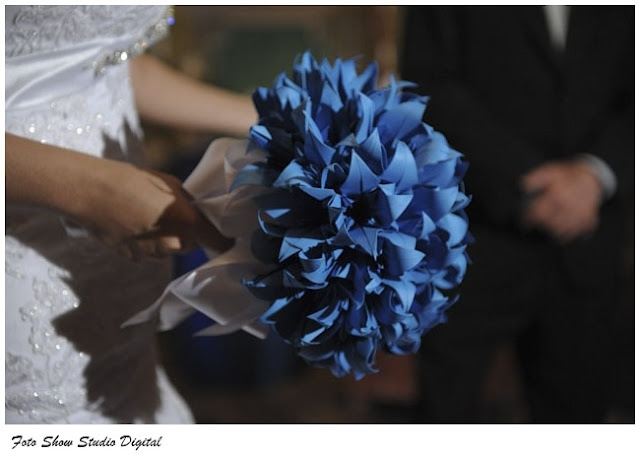 Love the colour of Origami flowers