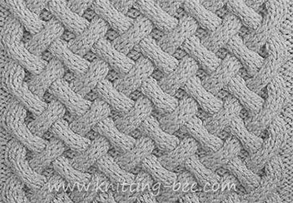 Free Basket Weave Aran Stitch knittng pattern. Abbreviations: k = Knit p = Purl c6f = (cable 6 front)- slip 3 stitches to a cable needle and hold at the front of the work, knit 3, then knit the 3 stitches from the cable needle. c6b = (cable 6 back)- slip 3 stitches to a cable needle and hold at the back of the work, knit 3, then knit the 3 stitches from the cable needle. t5f = (twist 5 front)- slip next 3 sts to cable needle and hold at front, p2, then k3 from cable n...