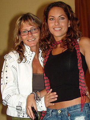 Barbara Mori with her Mom