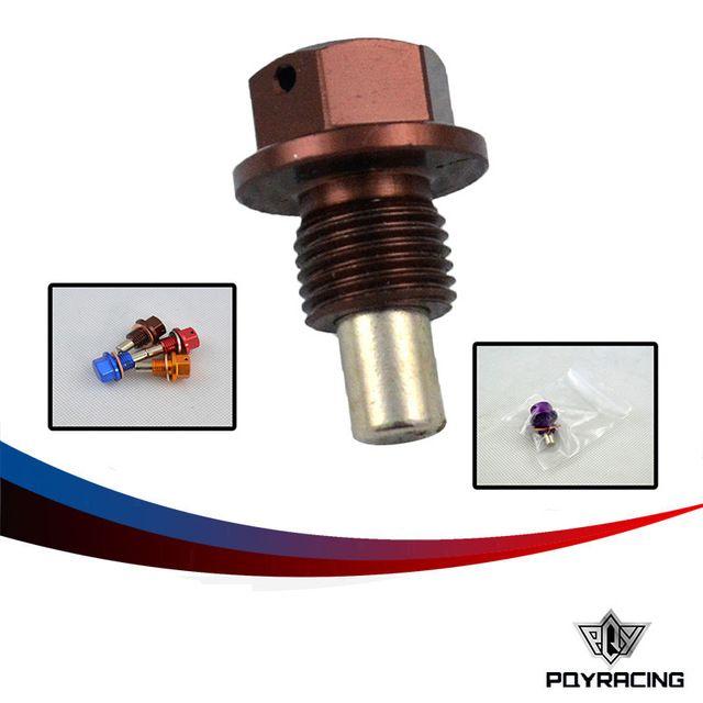 PQY-UNIVERSAL RACING M12 * 1.25 Tapón De Drenaje Magnético y Drenaje de Aceite de Sumidero Tuerca (Un montón de colores disponible) PQY-ODP12125