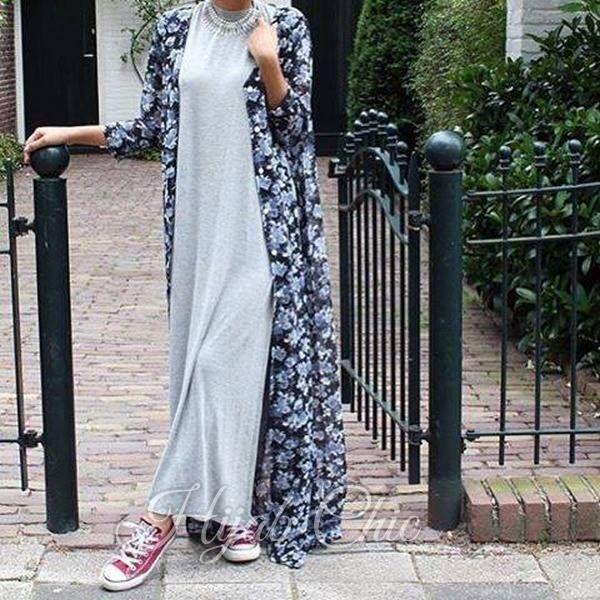 Long Dress and cardigan