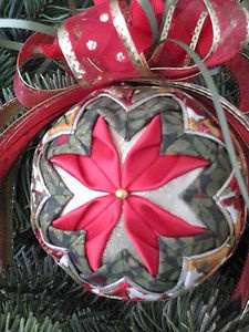 Pretty Quilted Christmas Ornament