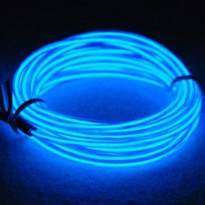 15ft Neon Light El Wire w/ Battery Pack for Parties, Halloween Decoration (blue)  lychee $10.88