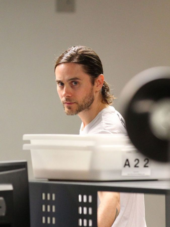 Jared Leto With Friends At LAX