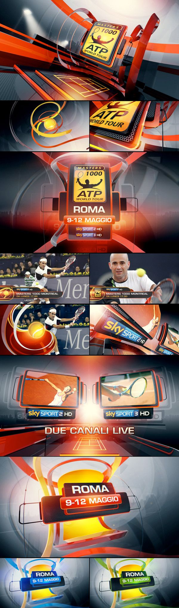SkySport promo toolkit by Angelsign Studio , via Behance
