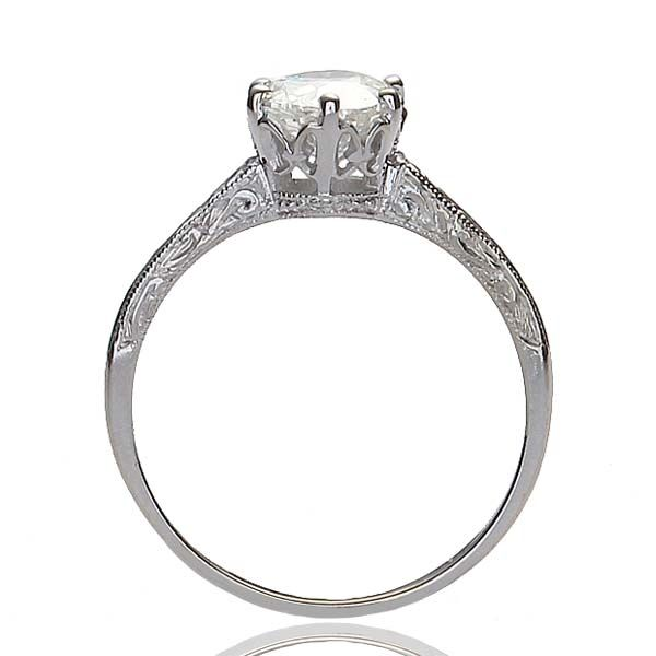 Replica Edwardian Engagement Ring Set with a Vintage diamond (This one really is quite beautiful. Round stone, 6 prongs, filigree detailing from the Edwardian period. As a replica it's still fantastic.)