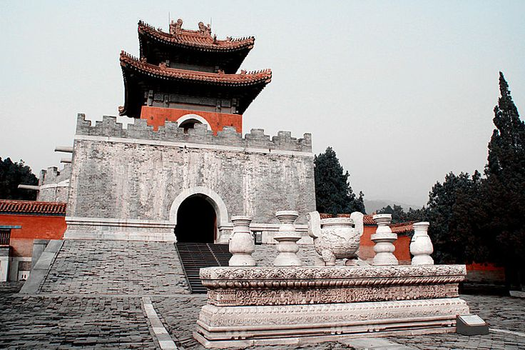 Memorial tower of the tomb of Empress Dowager Cixi