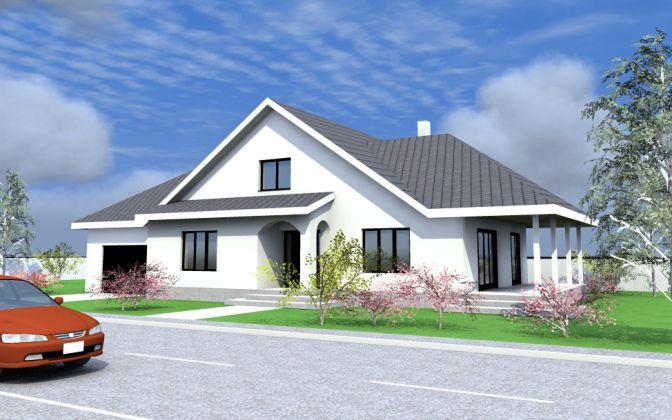 proiect casa cu mansarda