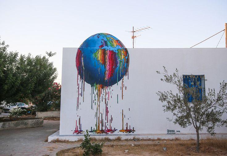Brusk (France) #streetart #erriadh #djerba #tunisia #surrealism #spray