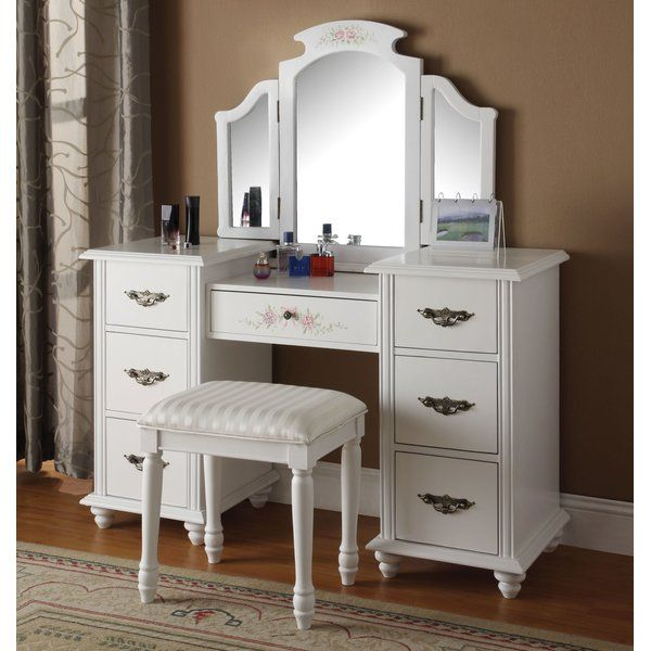 You\u0027ll love the Makeup Vanity Set with Mirror at Wayfair - Great - Bedroom Vanity Table