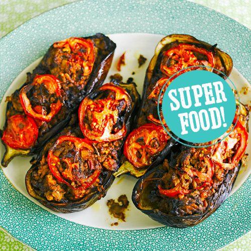 Gevulde aubergine recept - Jamie magazine