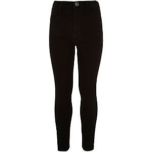 Girls black high waisted Molly jeggings