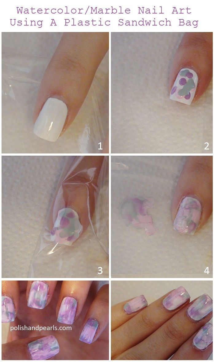 watercolor Marble Nail Art