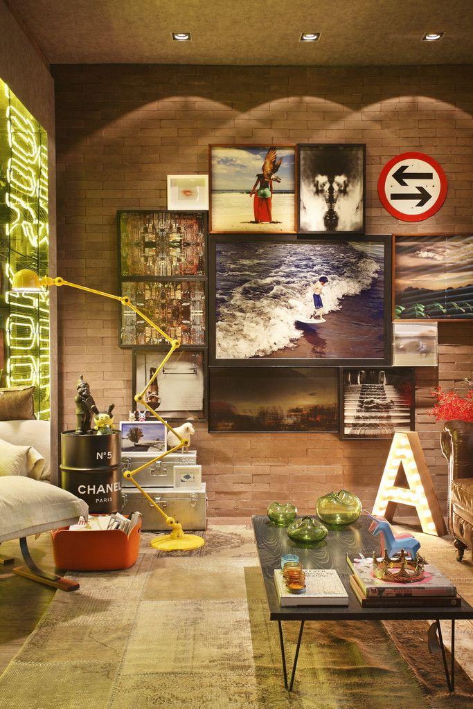 Casa Cor RJ - 2014 : Salas de estar industriais por Studio ro+ca