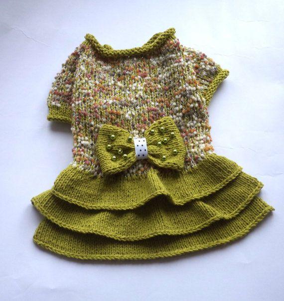 pet clothespet clothingpuppy sweatergirl dog by LyudmilaHandmade