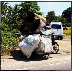 Anything can be transported by motor bike in Bali….not always safely but possible!