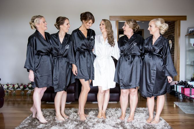 Matching robes makes for a gorgeous 'getting ready' picture with your bridesmaids #weddingphotography #sydneyweddingphotographer #markjayphotography #bridesmaid #robes #pose #style #weddingday #bride
