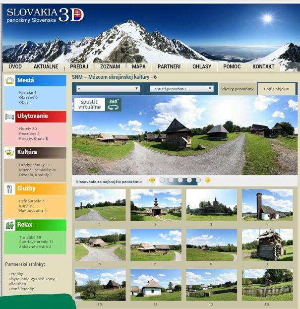 3D virtuálne prehliadky http://www.slovakia3d.sk