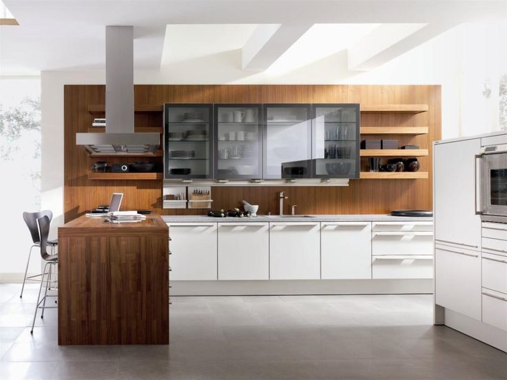 White And Wood In Harmony White Kitchen Cabinets Design