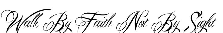 walk by faith, not by sight in latin | This Walk By Faith Not By Sight Tattoo was created using our unique ...