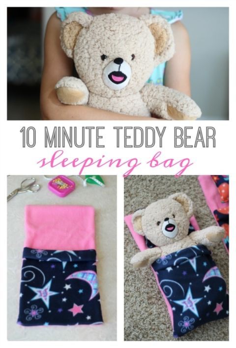 DIY Teddy Bear Sleeping Bag #TriplePfeature