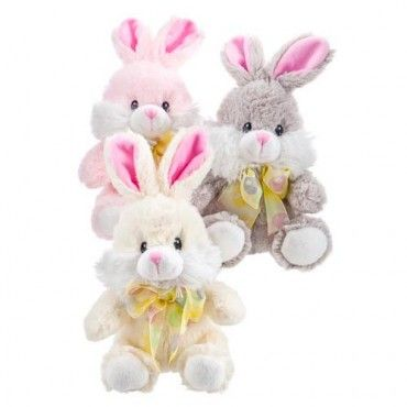 too young to eat chocolate or on a diet , these would make an eggcellent Easter prezzie so no one misses out - Bunny Cuddly Toy - Easter Gifts & Cards - Easter @Poundland UK UK