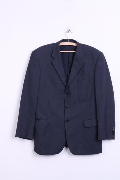 Austin Reed Mens 42 S Blazer Navy Blazer Jacket Wool - RetrospectClothes