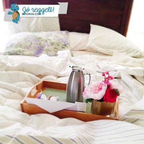 A HÉT KÉRDÉSE | Szerintetek egy szépen megvetett ágyból könnyebb vagy nehezebb kikelni reggelente? :) #jóreggelt